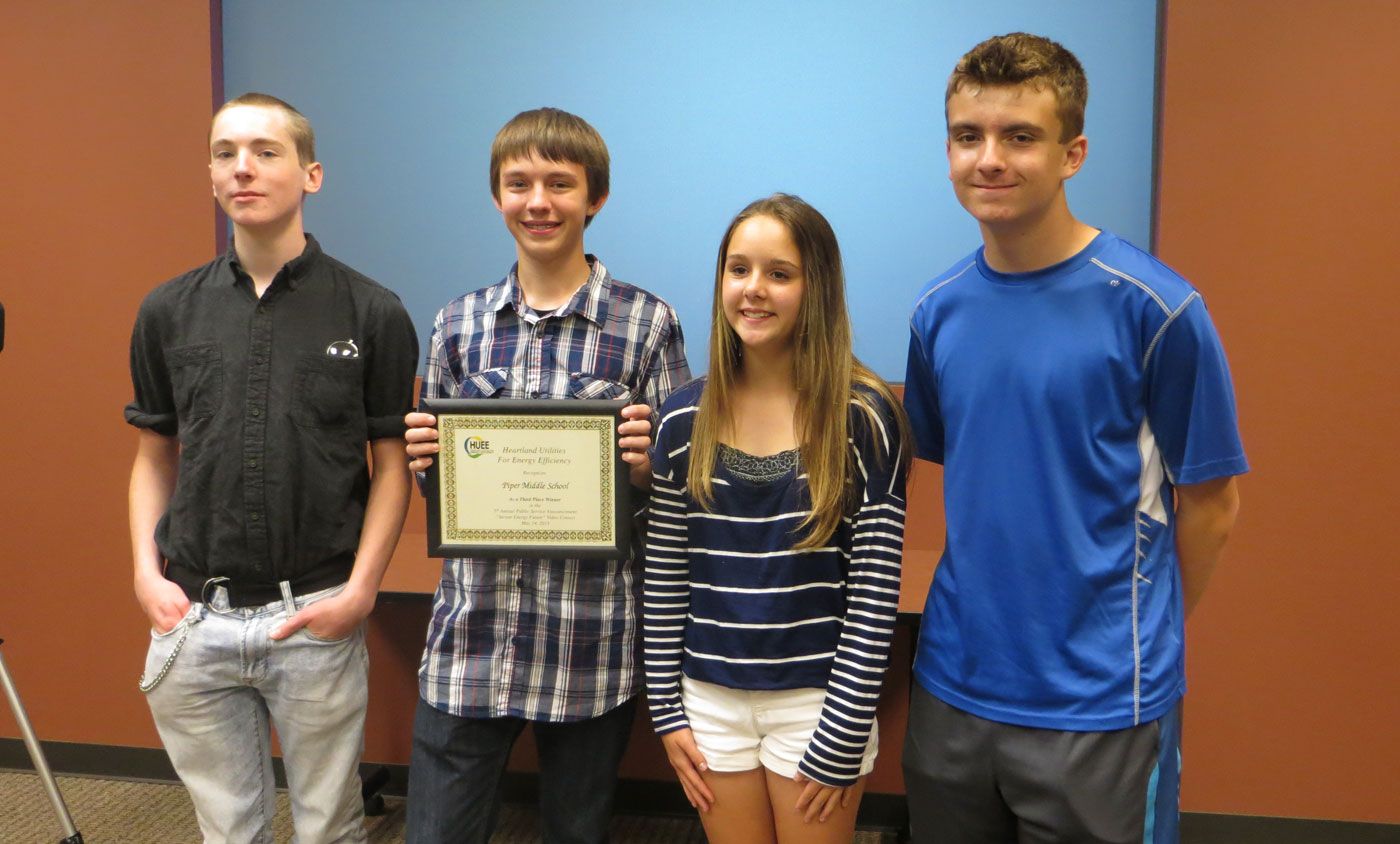 HUEE PSA Winners Piper Middle School 2015