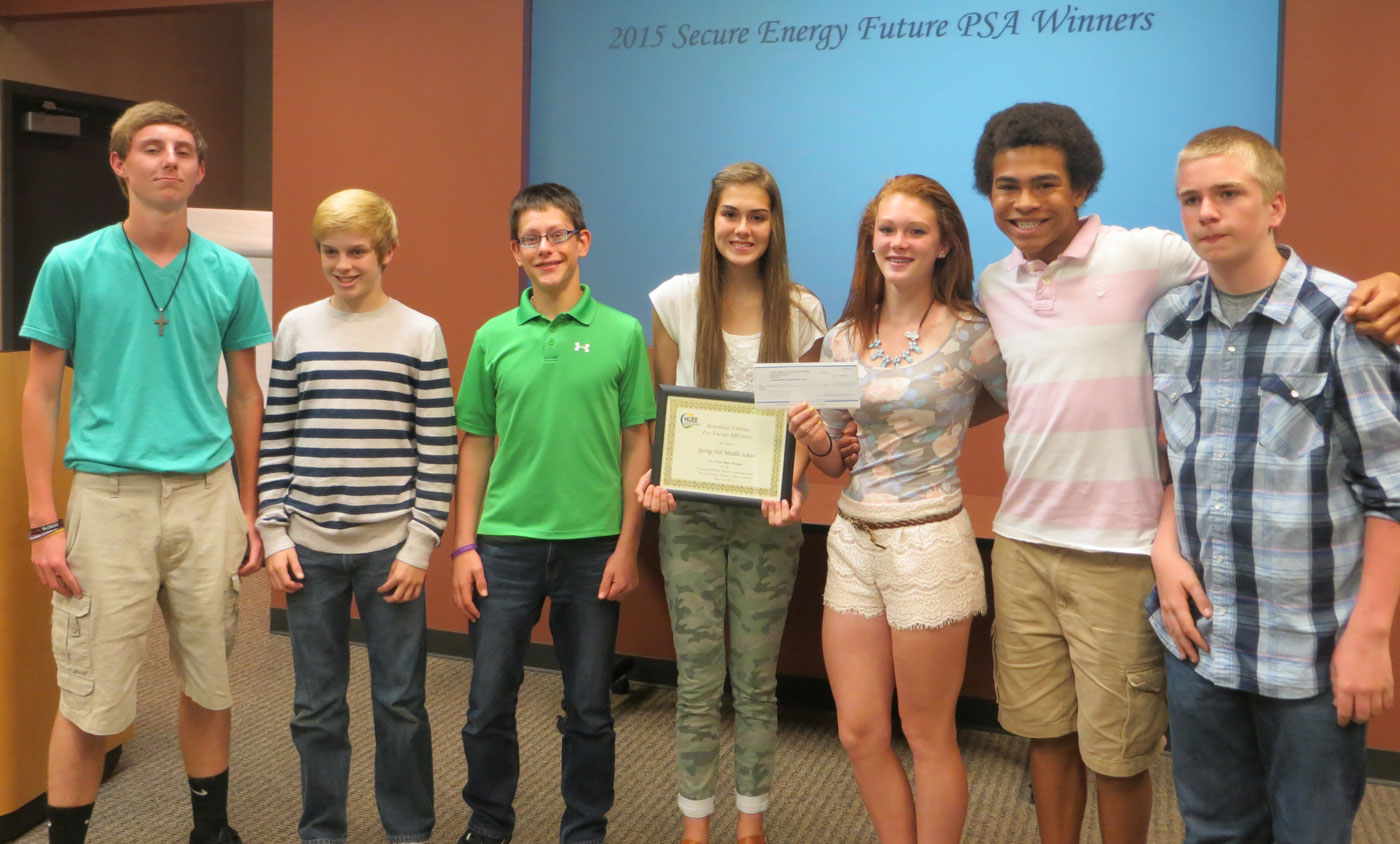 HUEE PSA Winners Spring Hill Middle School 2015
