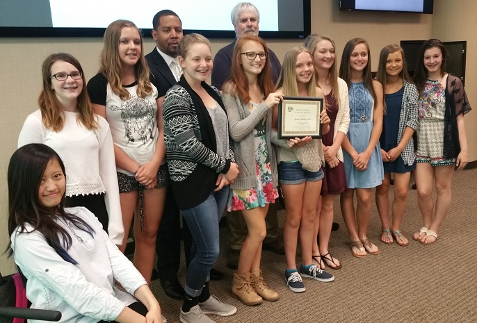 HUEE PSA Winners Kearney Middle School 2016